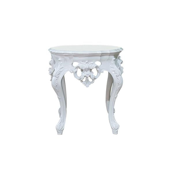 Table D'appoint Style Baroque - Blanc
