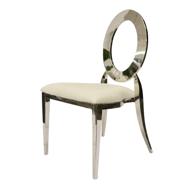 Chaise Louisa Argent - Assise Blanche