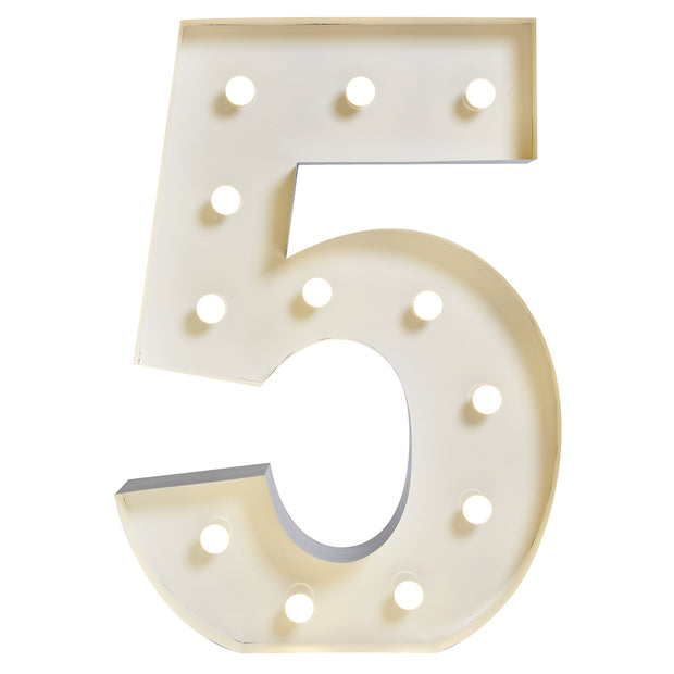 "Marquee ""5"" Lumineux"