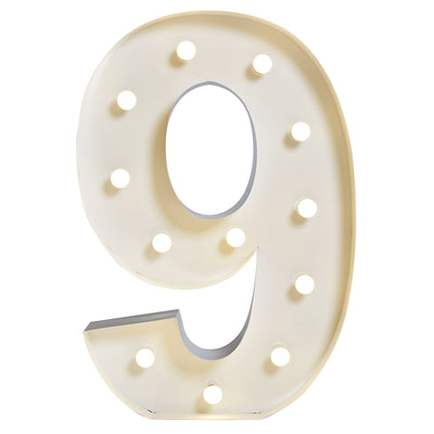 "Marquee ""9"" Lumineux"