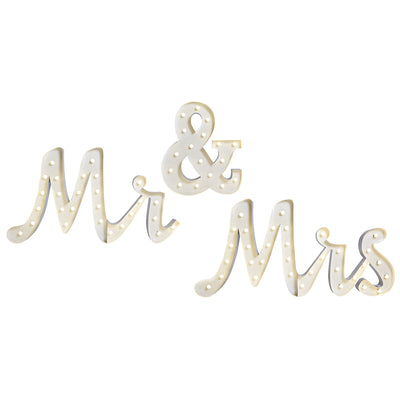 "Marquee ""Mr & Mrs"" Lumineux"