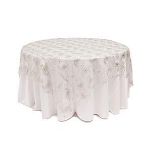 Surnappe Filet Pillettes Bollywood - Argent
