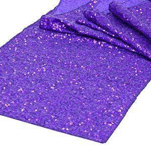 Chemin de Table Paillettes - Mauve