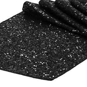 Chemin de Table Paillettes - Noir