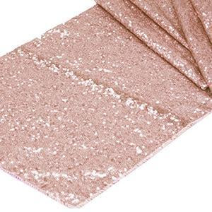 Chemin de Table Paillettes - Rose Or