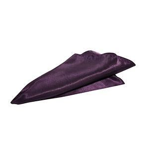 Serviette de Table Satin Brillant - Prune