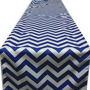 Chemin de Table Chevron - Bleu Royal