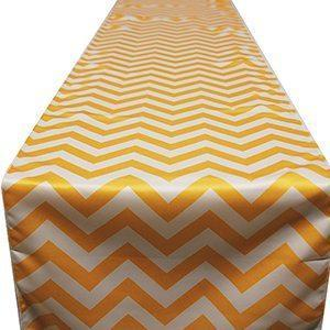 Chemin de Table Chevron - Jaune