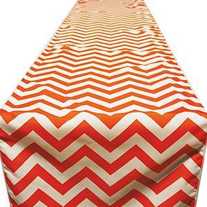 Chemin de Table Chevron - Orange