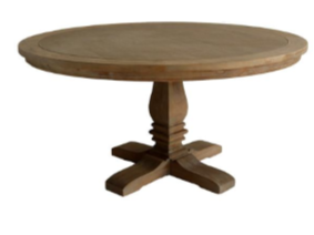 Table en bois ronde - Sacremento
