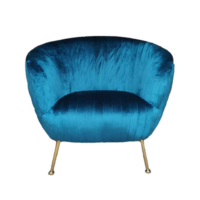 Fauteuil Ginger Velours Sarcelle