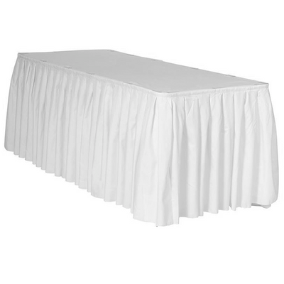 Jupe de Table Polyester – Blanc