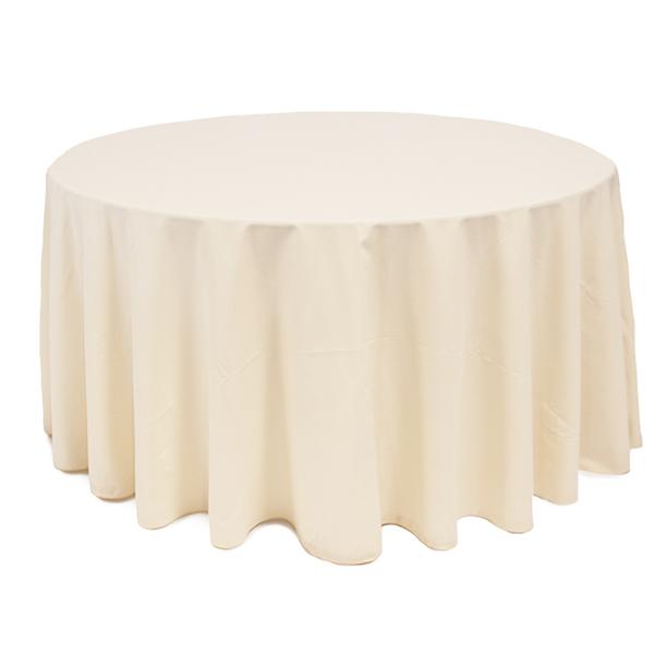 Nappe Ronde Polyester Crème