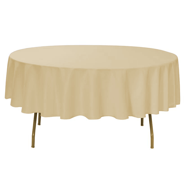 "Nappe Polyester 90"" - Champagne"