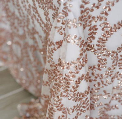 Nappe Paillettes - Rose Blush Vigne