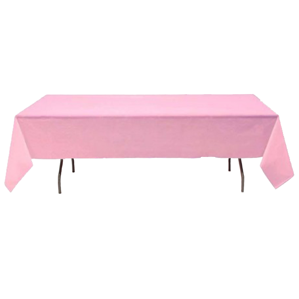 "Nappe Polyester 53"" x 120"" - Rose"