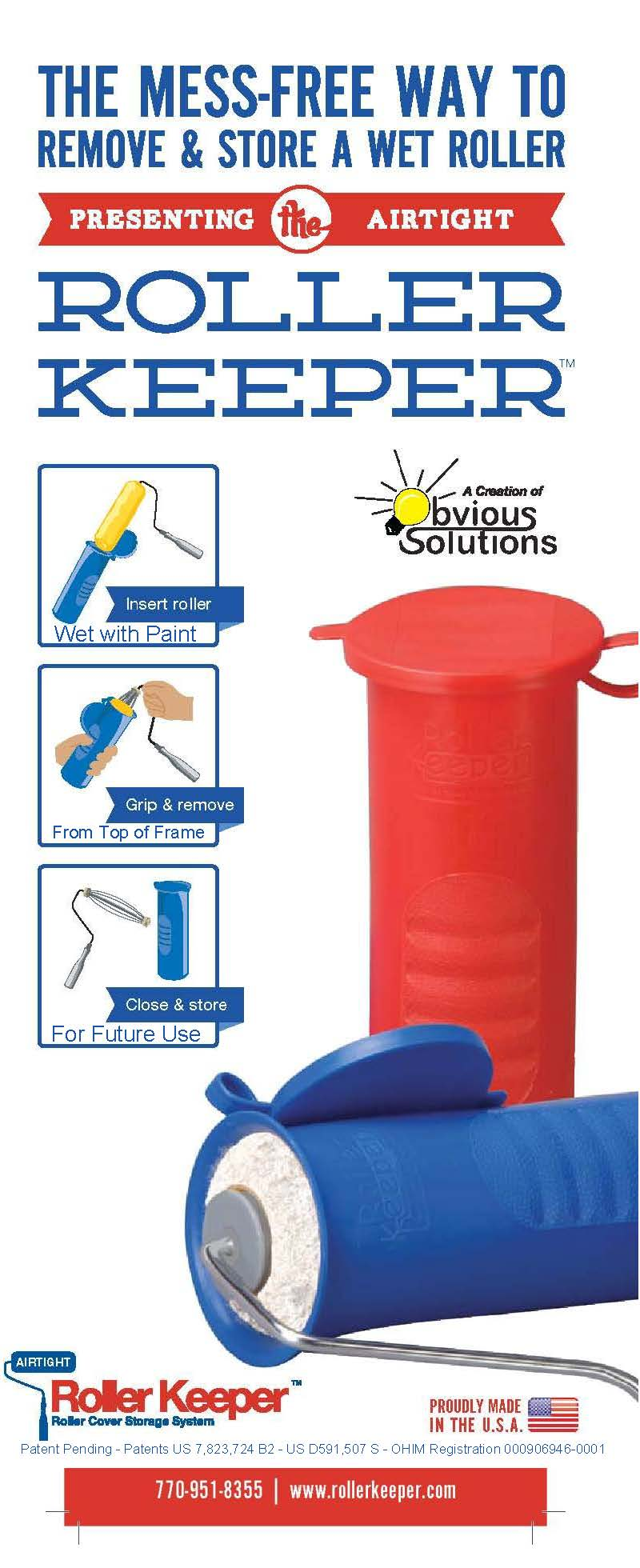6 Pack of Roller Keepers for Professional Painters - Obvious Solutions