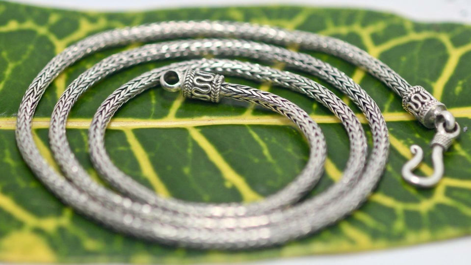 "18/"" 2.5MM BALI LINK CHAIN 925 STERLING SILVER necklace"