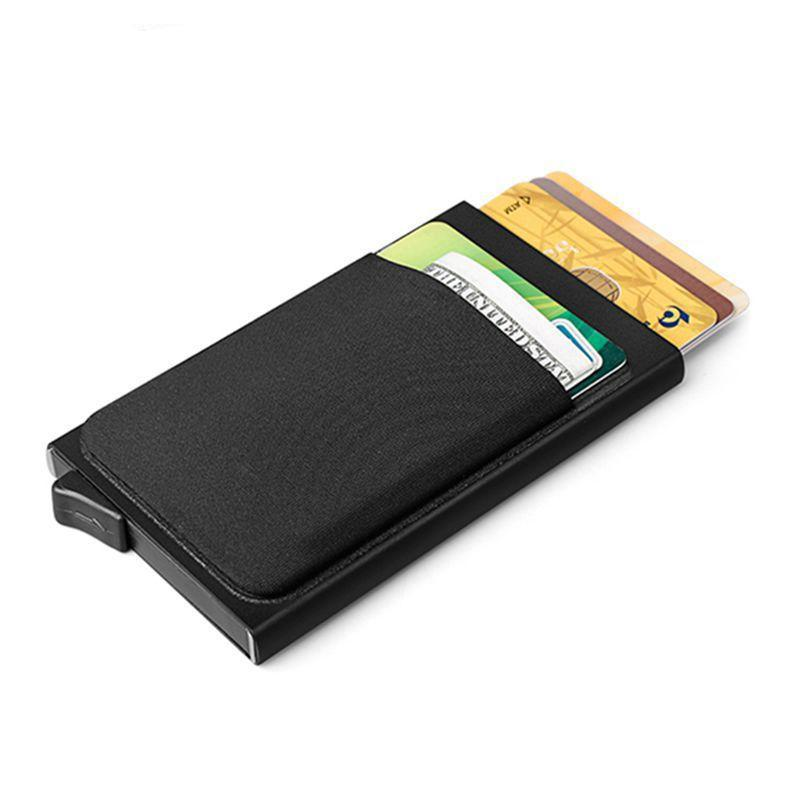 Auto Eject Leather Card Holder