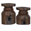 Barn Post Candle Holder Set - Timlin's Furniture & Mattress