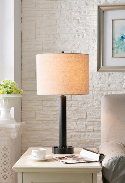 Hemlock Table Lamp 2 Outlets - Timlin's Furniture & Mattress
