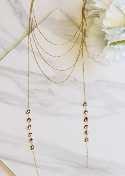 Jules Smith Selina Lariat Layered Necklace Gold WsvbCam