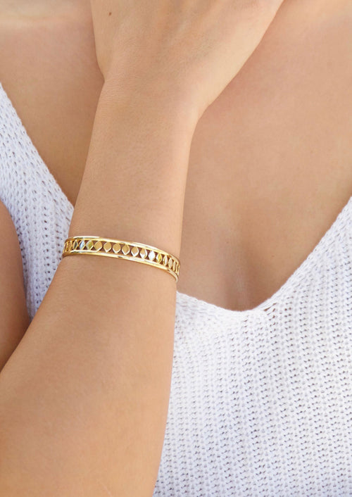 Aida Cuff - Jules Smith - 14K Gold Plated - Boho Jewelry