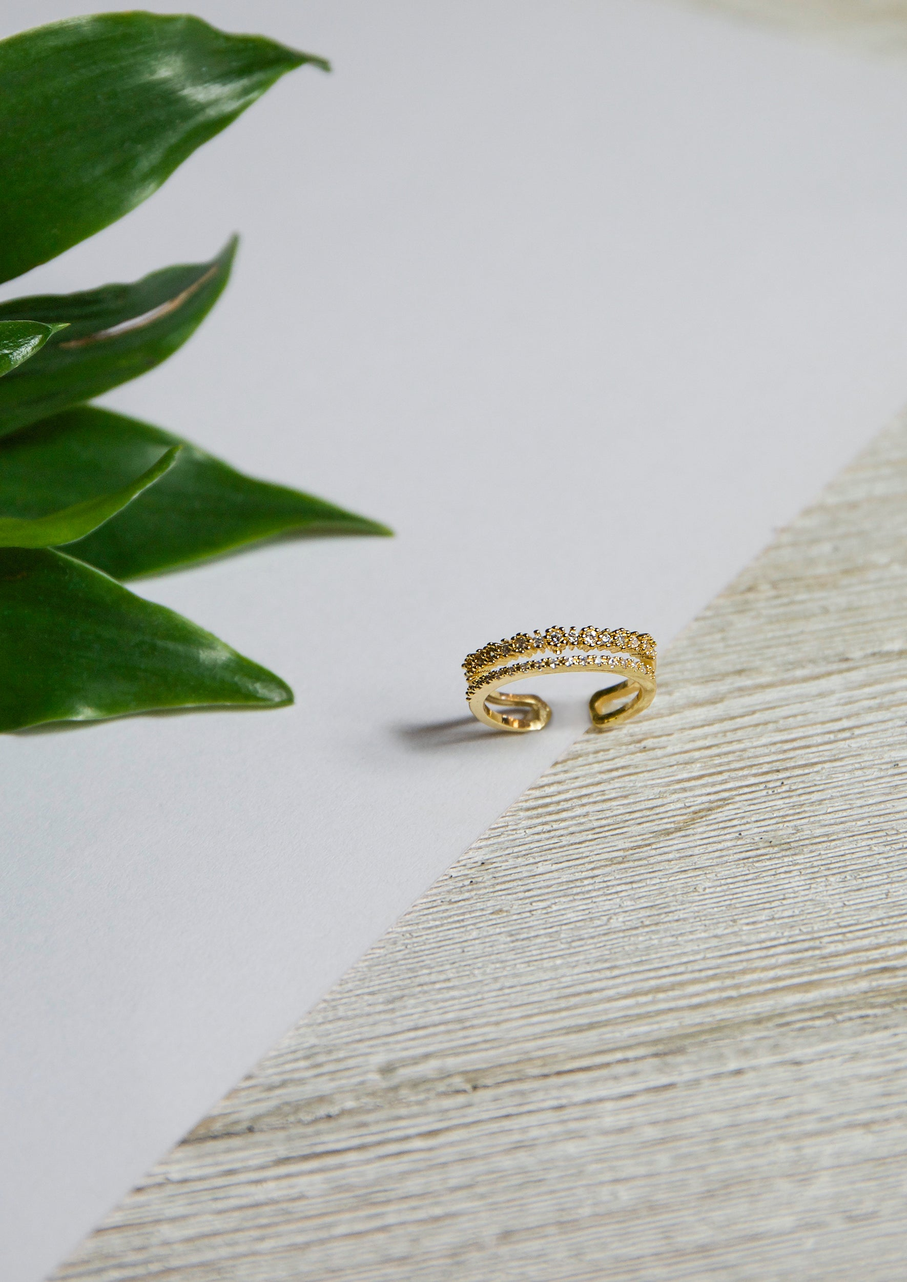 Daisy Chain Ring - Jules Smith - 14K Gold Plated - Boho Jewelry