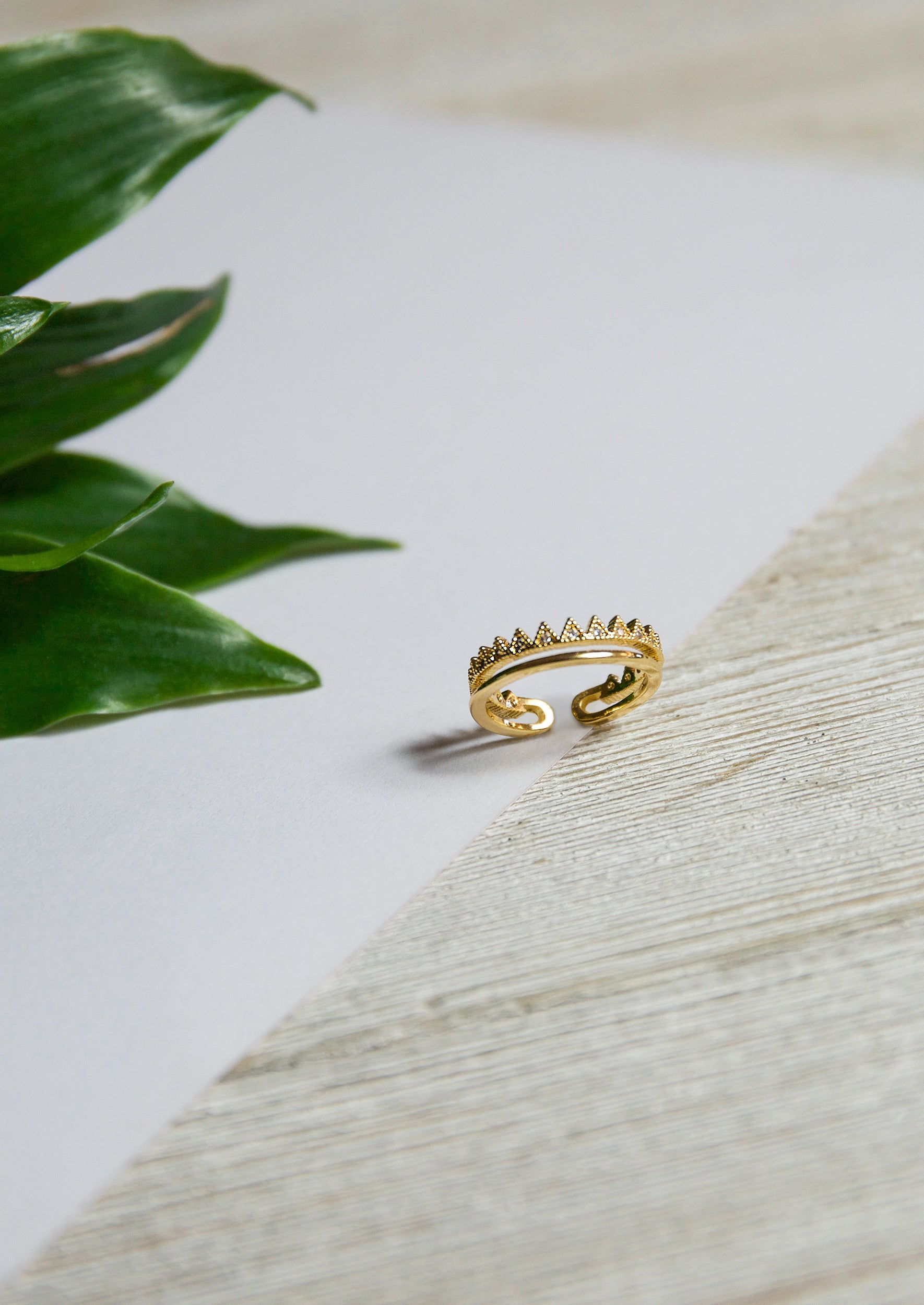 Royalty Ring - Jules Smith - 14K Gold Plated - Boho Jewelry