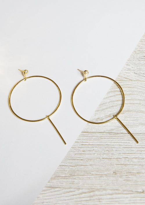 TEARDROP HOOP EARRINGS - Jules Smith - 14K Gold Plated - Boho Jewelry
