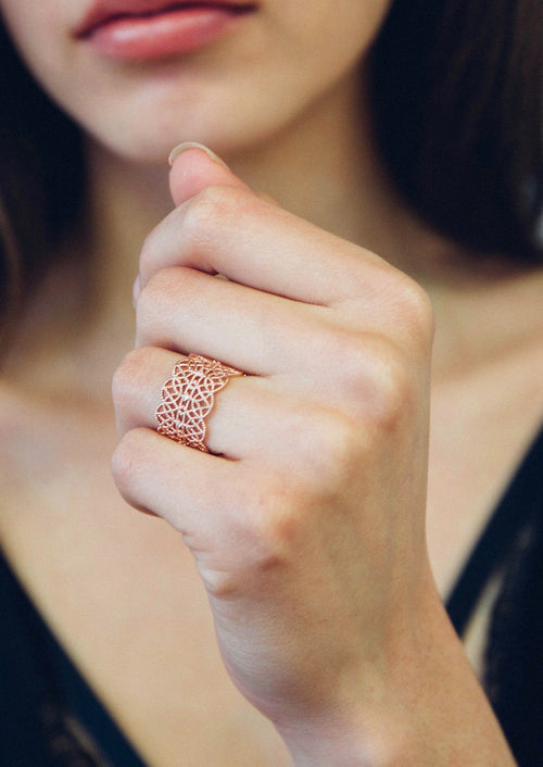 LACE PAVE RING CUFF