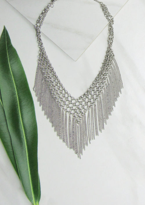 JULES SMITH CHAIN FRINGE CHOKER