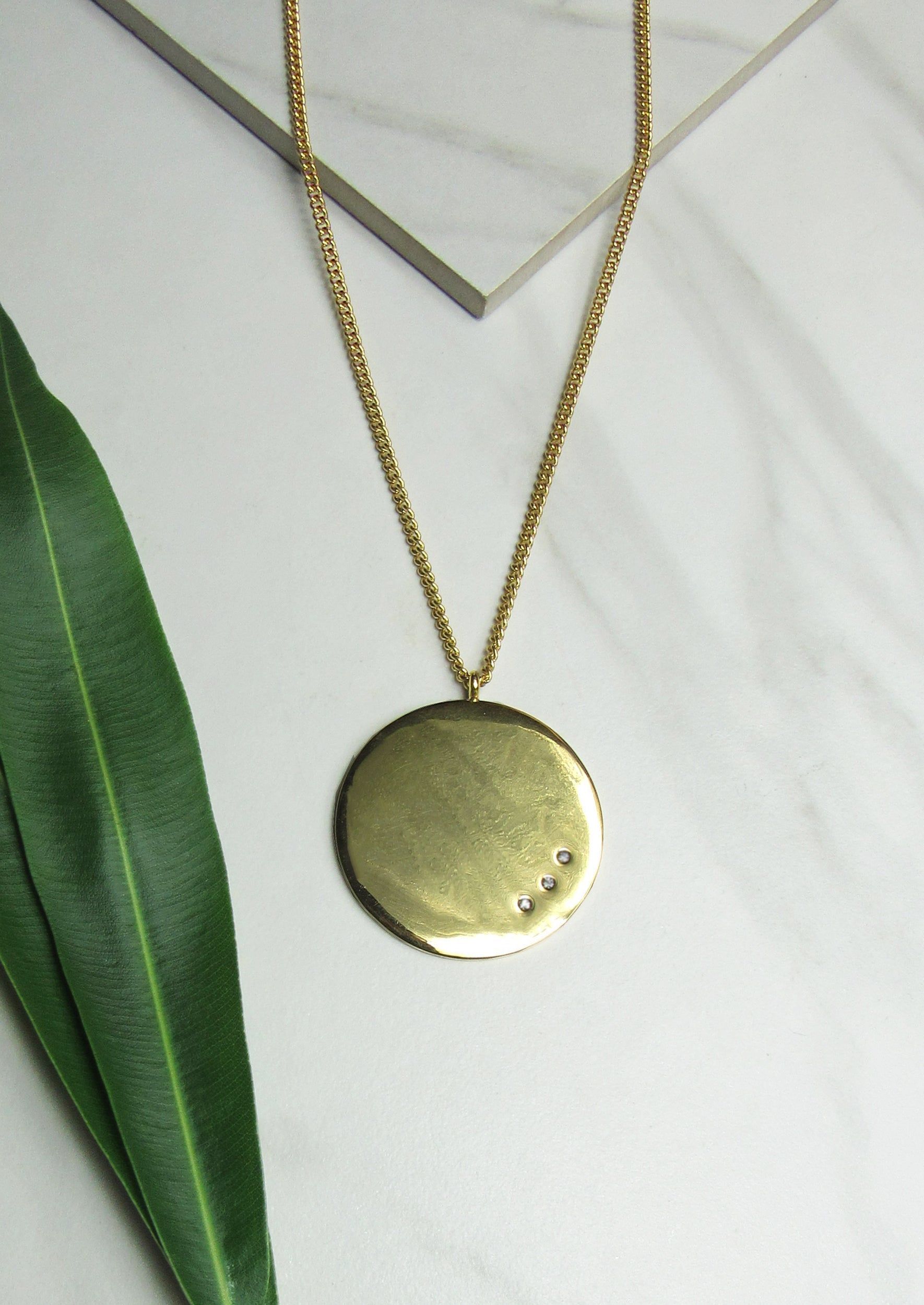 long pendant chain necklace disk claire s