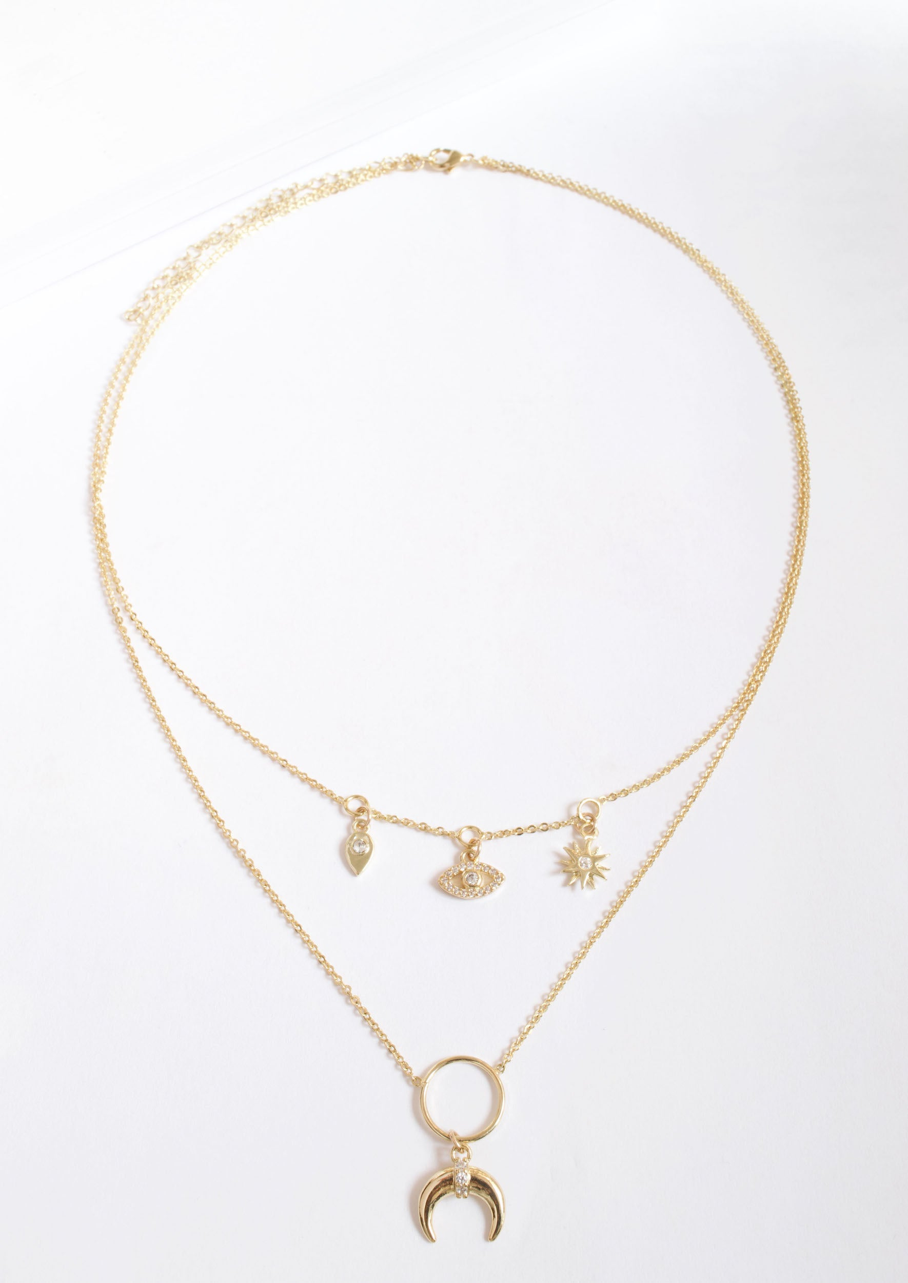 CHARMING DOUBLE LAYER NECKLACE