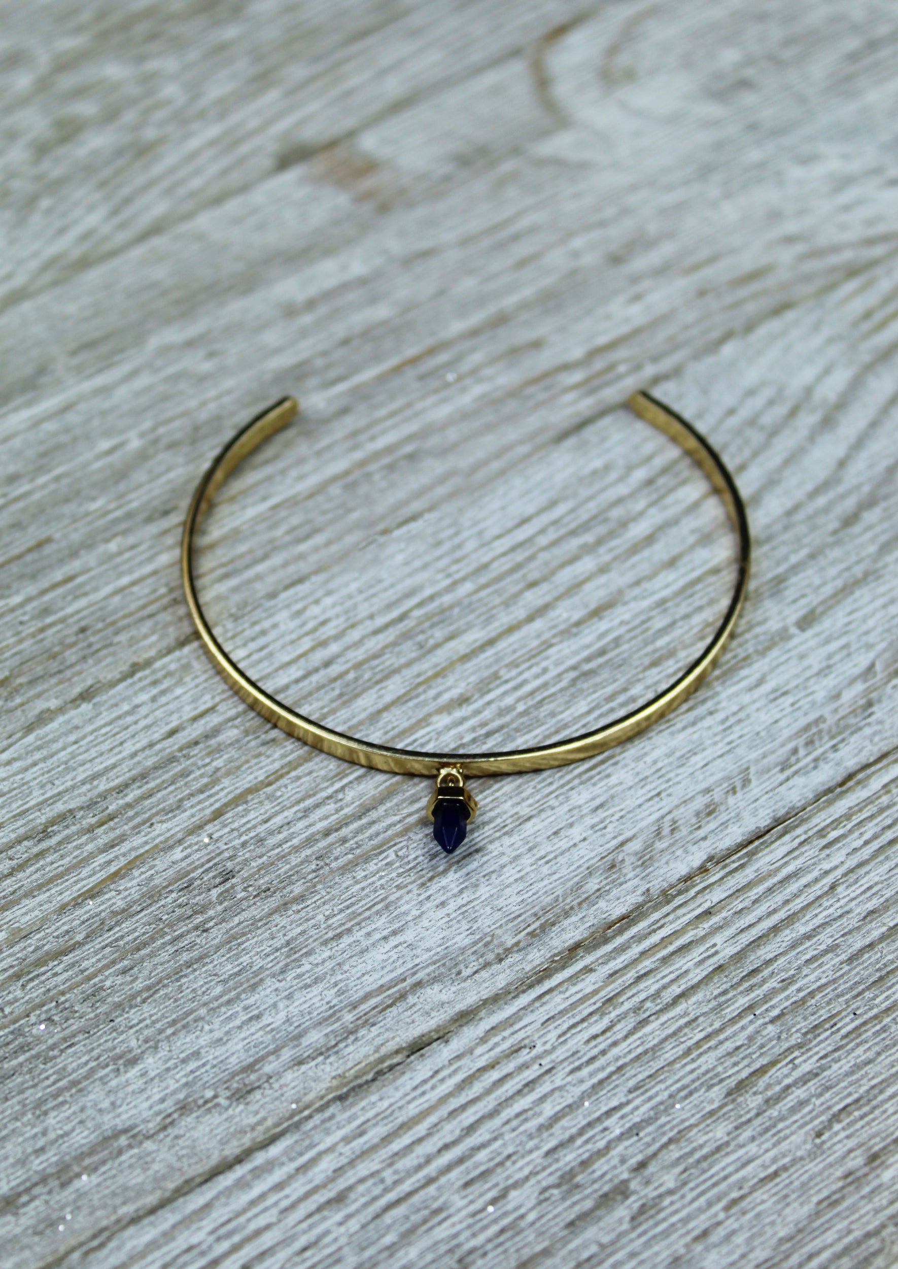 Faerydae Stone Charm Cuff - Jules Smith - 14K Gold Plated - Boho Jewelry