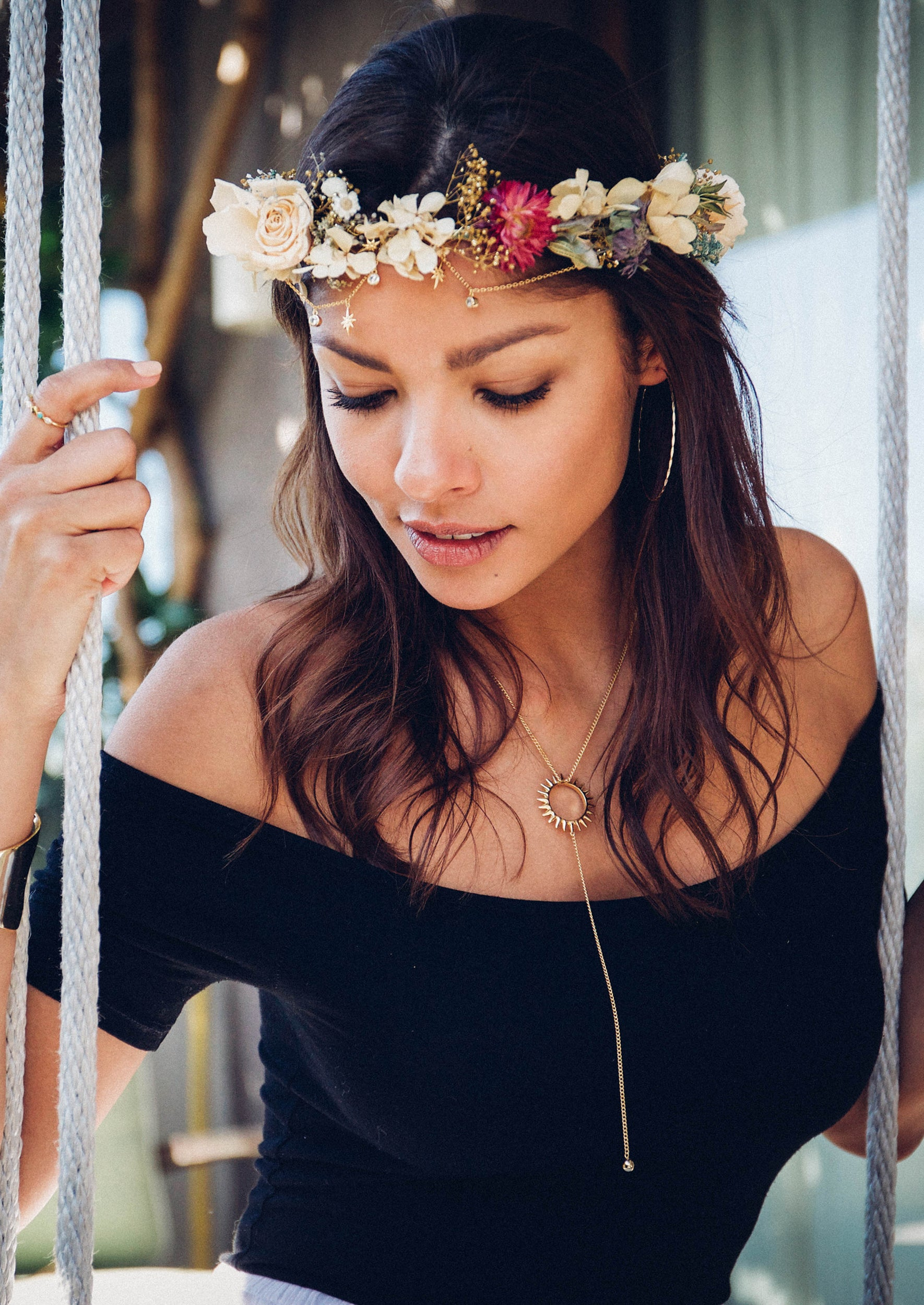 Jules smith x crowns by christy flower crowns festival accessories jules smith x crowns by christy morning star flower crown izmirmasajfo