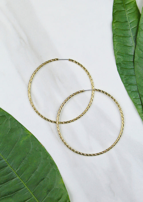Electra Hoops - Jules Smith - 14K Gold Plated - Boho Jewelry