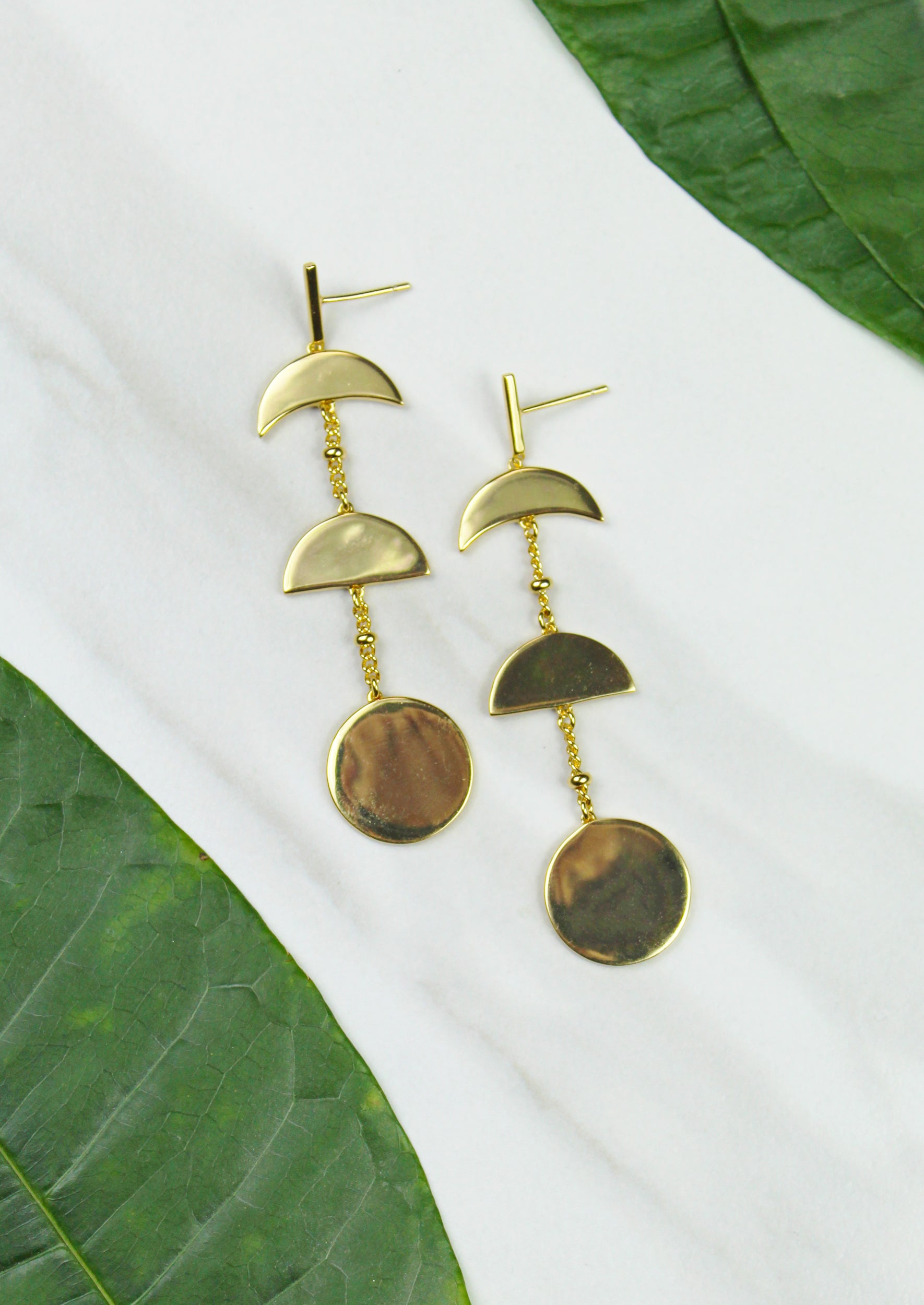 Moon Phase Earrings - Jules Smith - 14K Gold Plated - Boho Jewelry