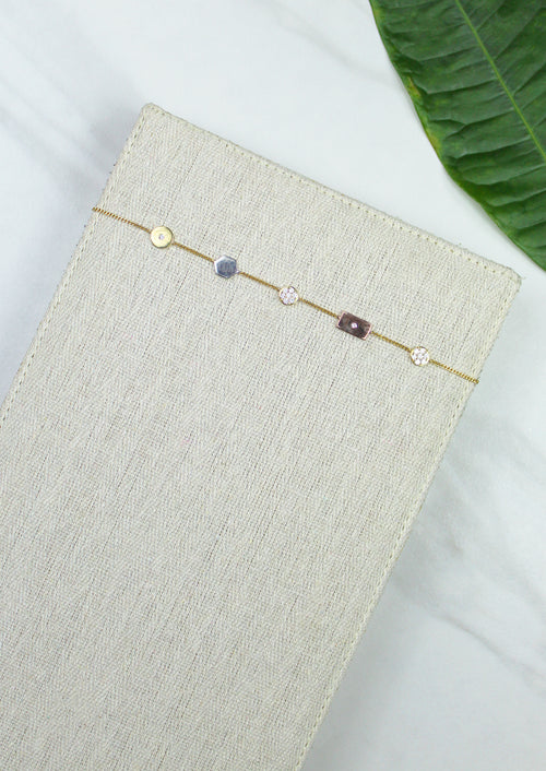 Mixed Shape Necklace - Jules Smith - 14K Gold Plated - Boho Jewelry