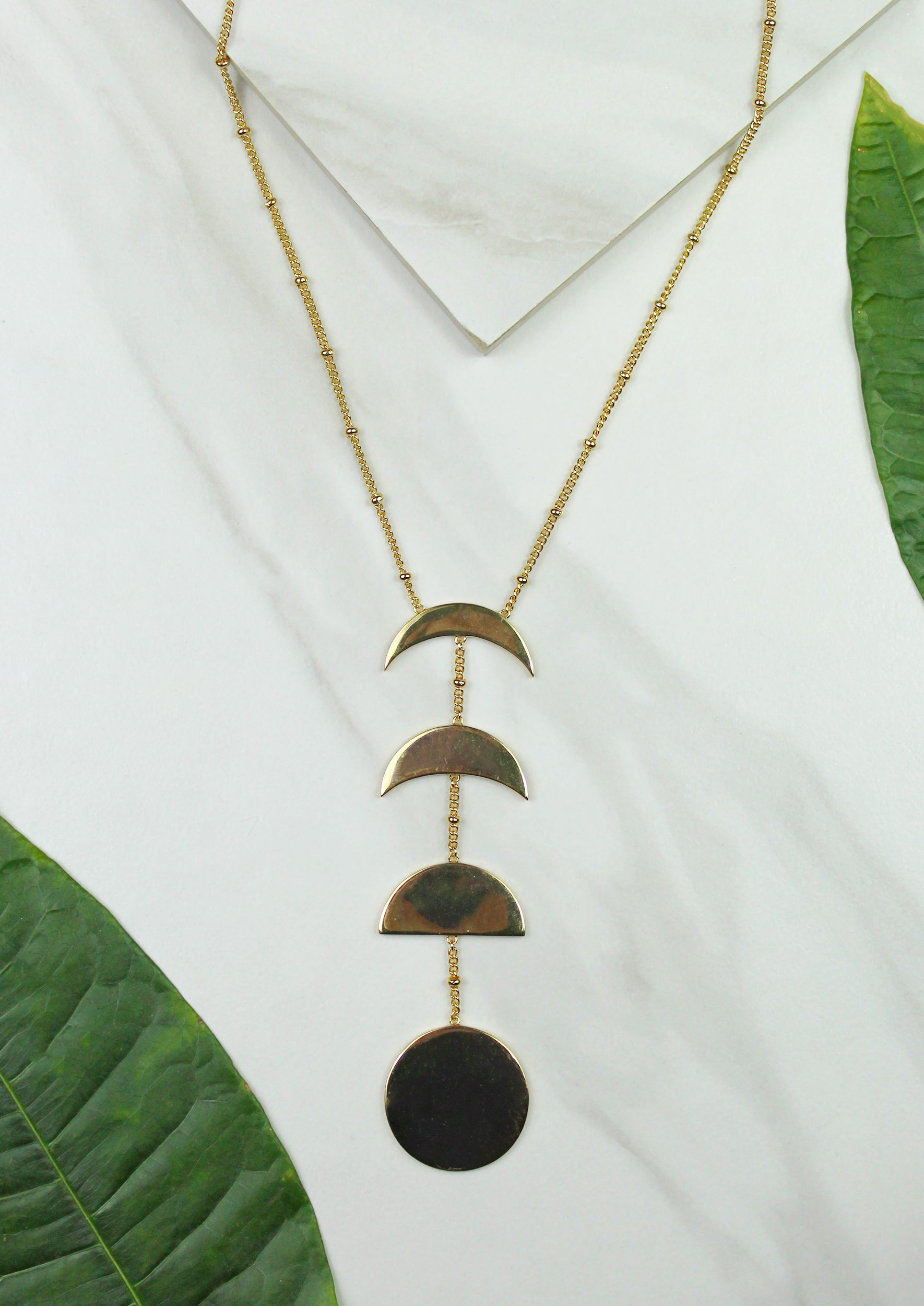 Moon Phase Necklace - Jules Smith - 14K Gold Plated - Boho Jewelry