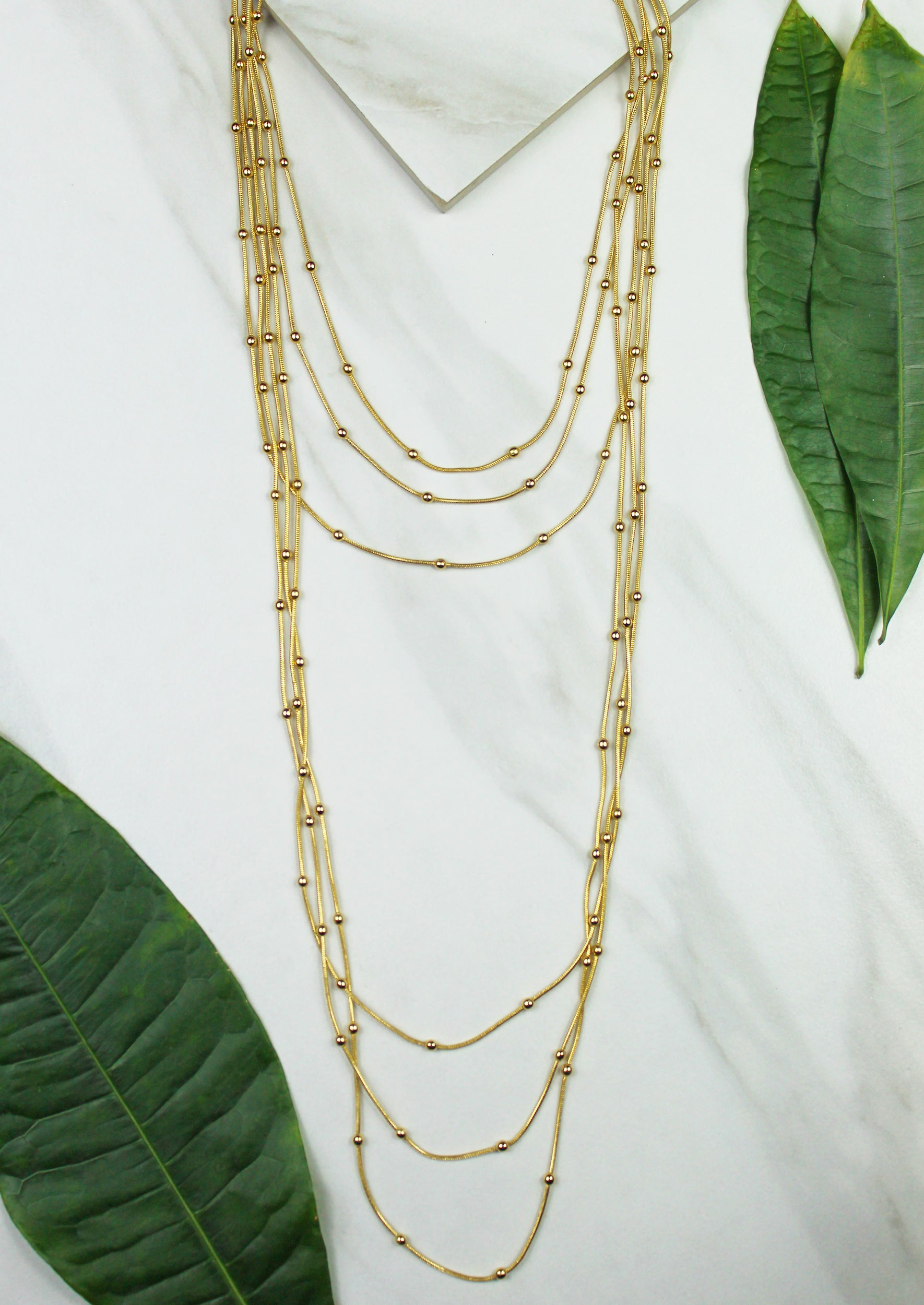Aida Layered Necklace - Jules Smith - 14K Gold Plated - Boho Jewelry
