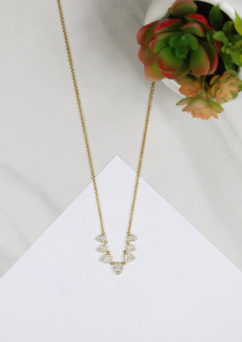 5 Pave Triangle Necklace