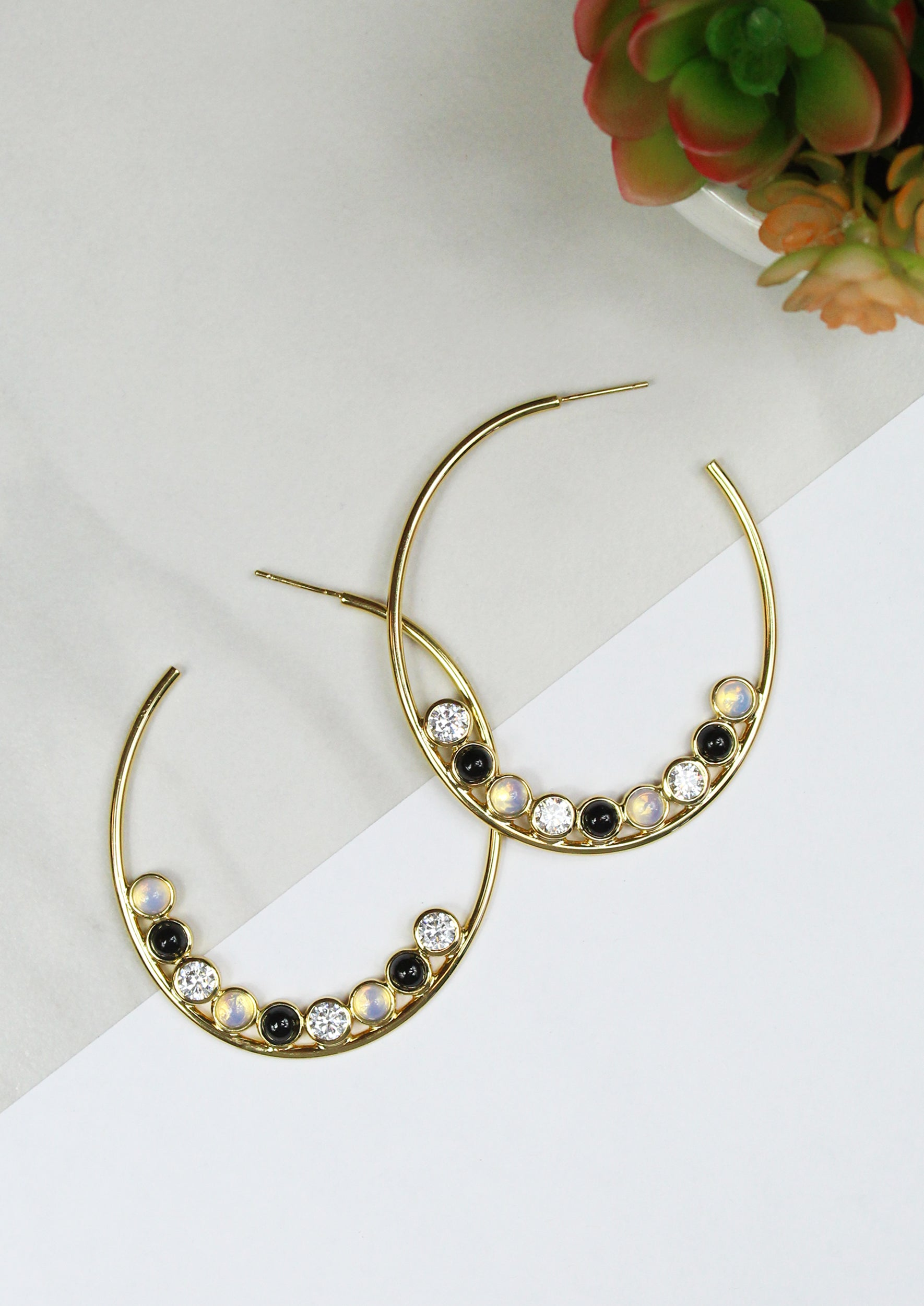 VICTORIAN HOOP EARRINGS