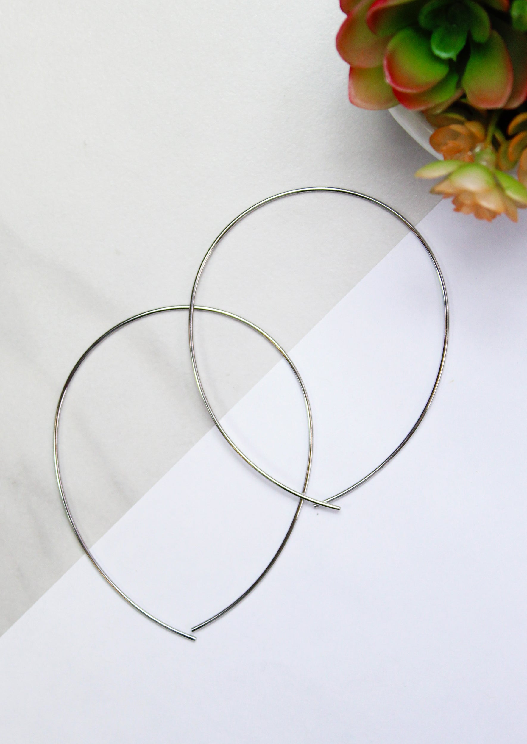 Silver Plated Hoop Earrings From Jules Smith