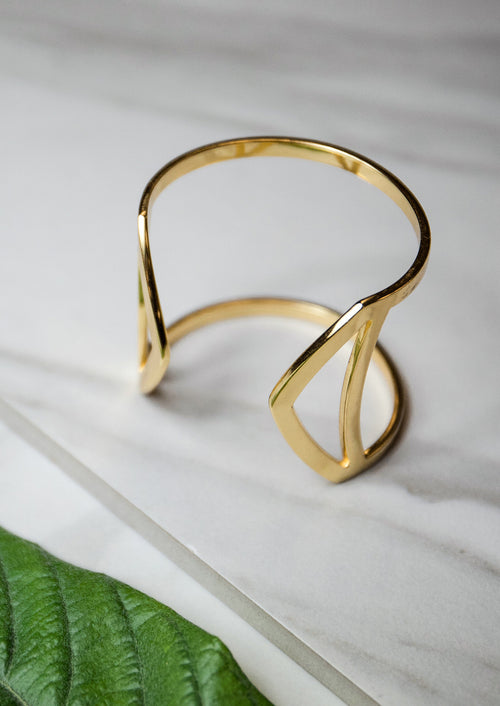 Jules Smith 14K Gold Plated Cut Out Cuff Bracelet