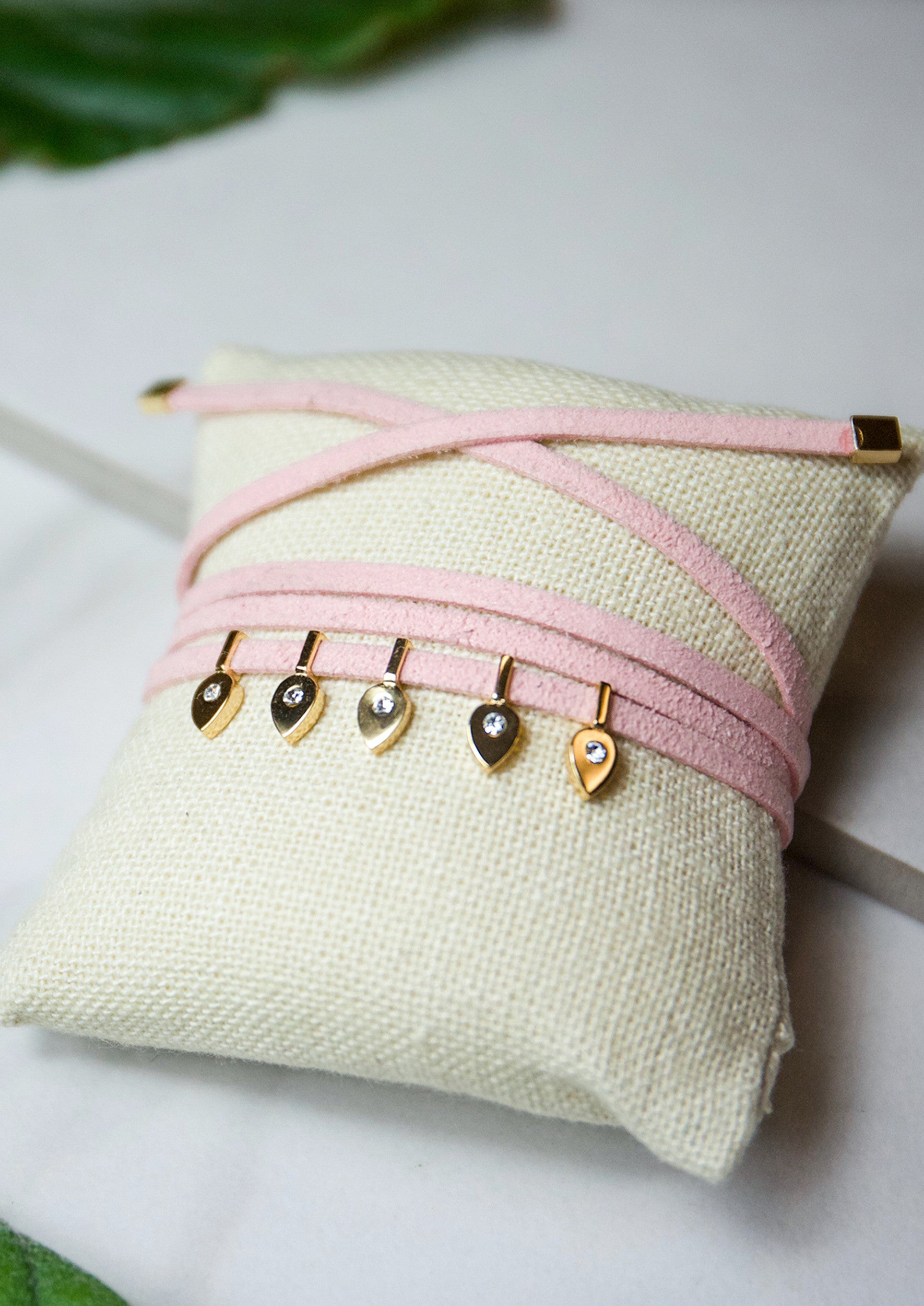 Jules Smith Suede Wrap and Gold Charms Bracelet