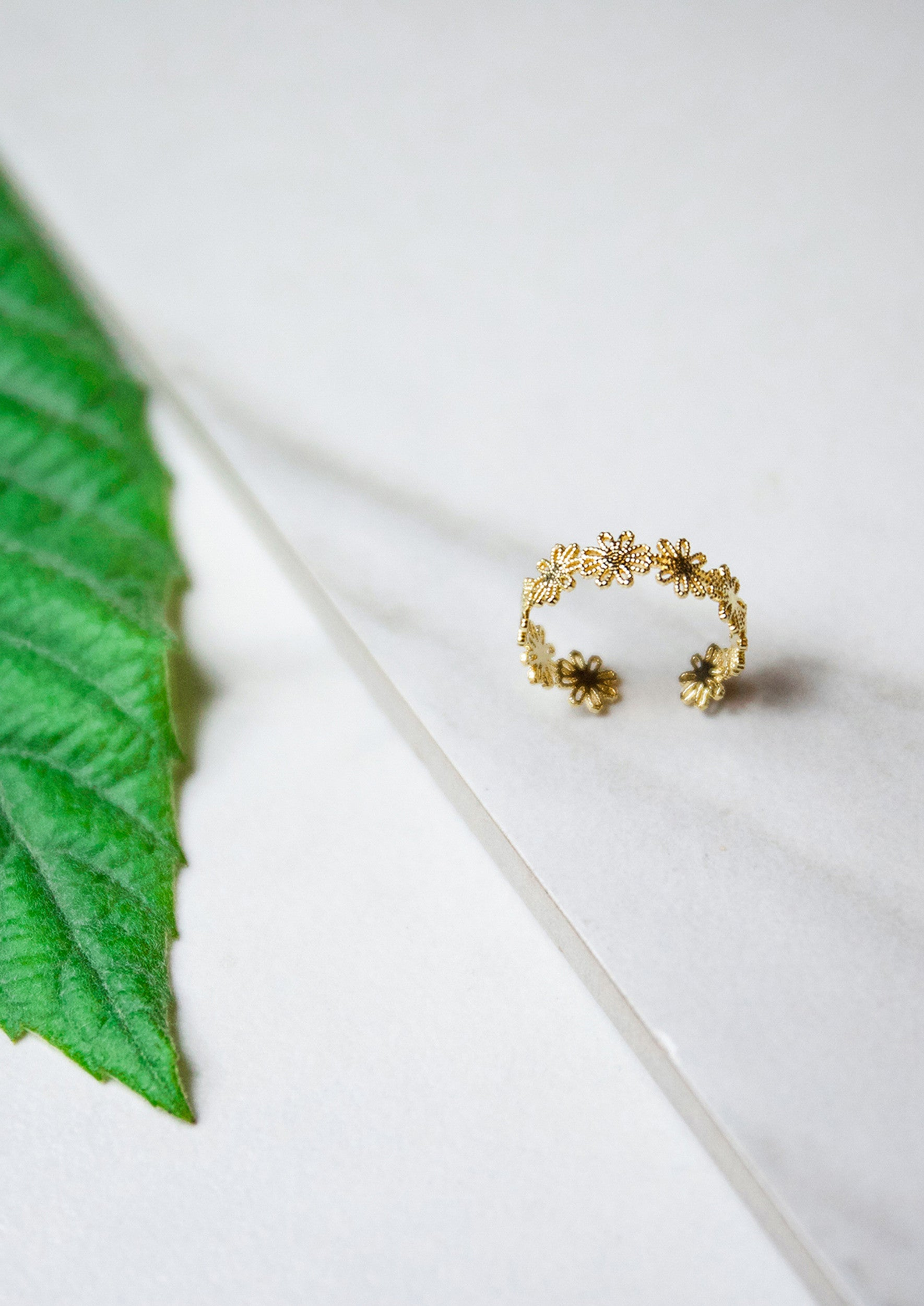 Peony Ring - Jules Smith - 14K Gold Plated - Boho Jewelry