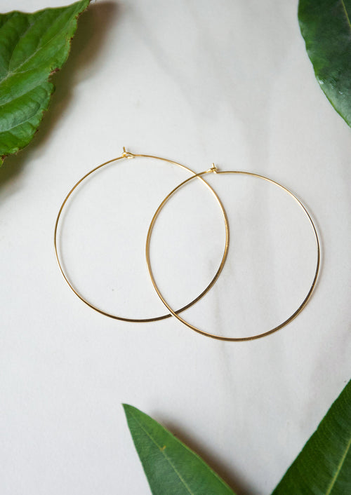 Jules Smith 14K plated Classic Thin Hoop
