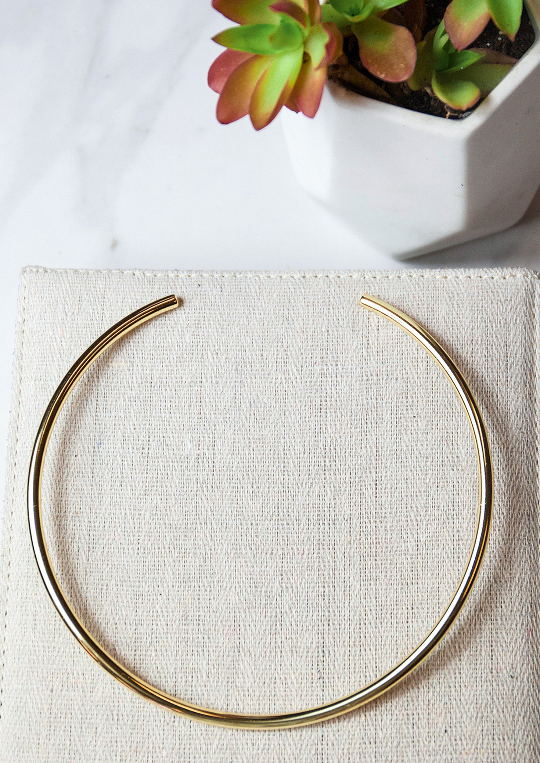 Jules Smith 14K Gold Plated Solid Bohemian Choker
