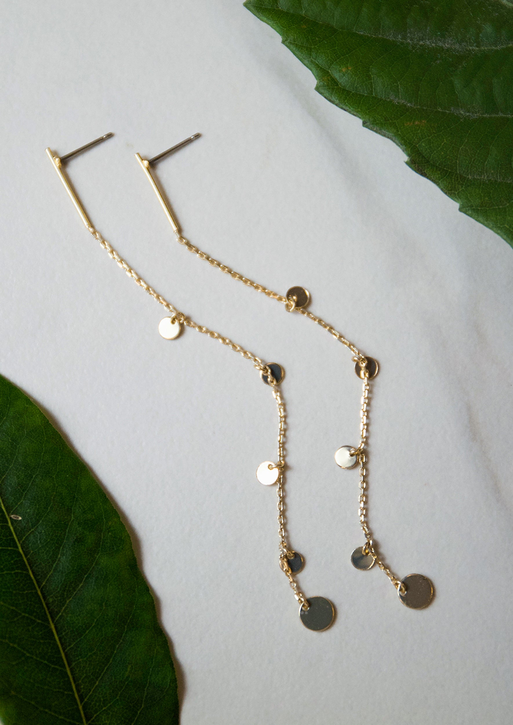Jules Smith 14K Gold Plated Chain Drop Earrings